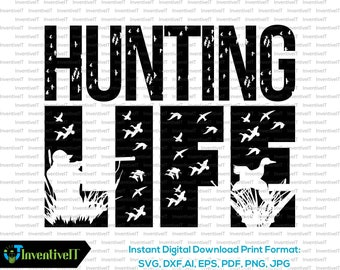 Download Duck hunting svg | Etsy
