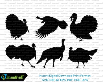 8a52e5dd Turkey svg | Turkey Silhouette | Turkey Vector | Turkey Clipart | Svg Files  | Png Files | Eps | Dxf | Pdf Files | Cricut | Cut File
