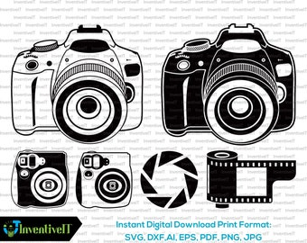 Camera Vintage Vector Png : Camera svg etsy