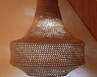 Handmade Crochet Macrame Pendant Lamp Light