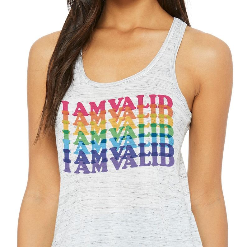 I Am Valid Racerback Tank Top Lightweight Summer Positive Mental Health Awareness LGBTQ Pride Tank Top Cute Gay Pride Tank Top