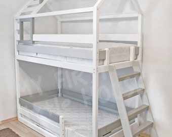 Letti A Castello Shabby Chic : Twin bed etsy