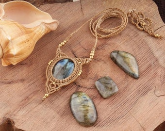 Gemstone Thread Pendant 2 Pcs  of 167Cts Handmade Macrame Gemstone Jewelry #SKU1746 41x33mm Blue Druzy Cab Macrame Pendant