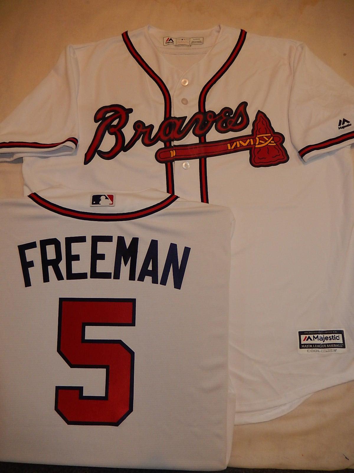 8628 majestueux Mens Atlanta Braves Baseball FREDDIE FREEMAN Baseball Braves JERSEY blanc neuf e04771