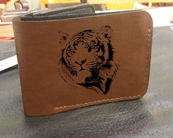 fd65c245 men's leather wallet with tiger print is a perfect gift for your boyfriend
