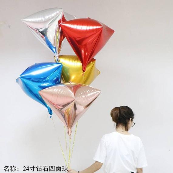 24 inch Diamond Shape Aluminum 4D Foil Balloon Wedding Birthday Party Decor
