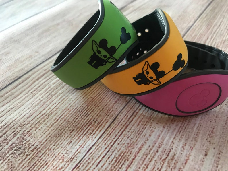 Disney Mandalorian Magic Band Decal Baby Yoda Mickey Ears and image 0