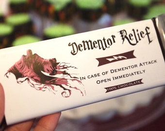 graphic relating to Dementor Chocolate Wrapper Printable known as Chocolate bar wraps Etsy