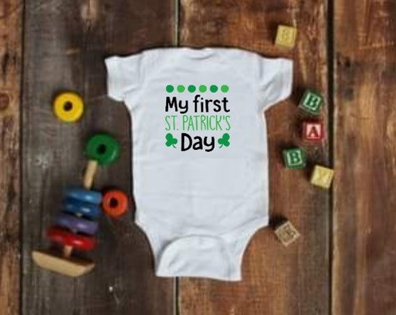 My First St. Patrick s Day Onesie  677f187dd
