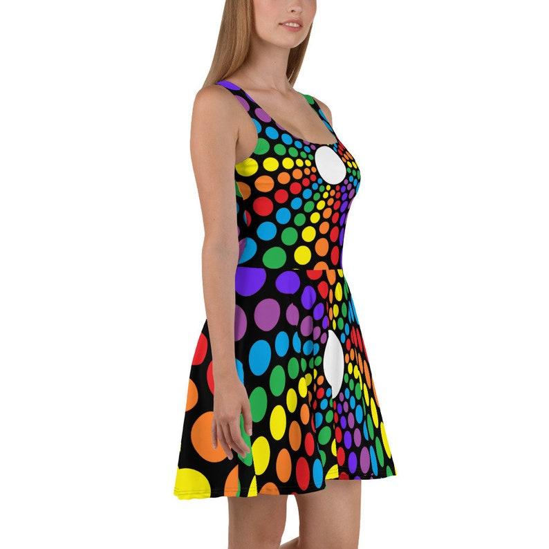 RAINBOW SPOTS  Skater Dress