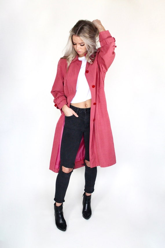 Adorable Pink Trench Coat, Lightweight Jacket, Sma