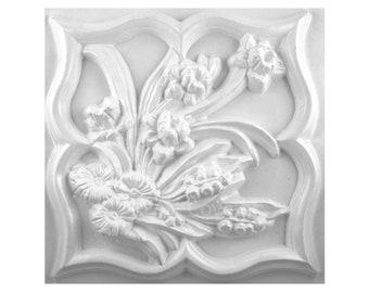 """8/"""" x 3//4/"""" Plain plaque mold plaster concrete mould decorate yourself"""