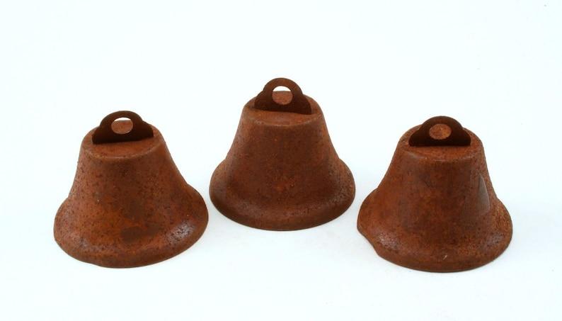 45mm Rustic Rusty Small Liberty Bells 3 Pieces