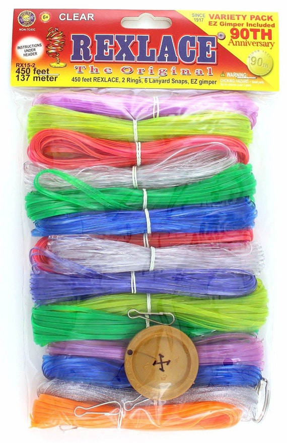 Pepperell Rexlace Plastic Craft Lace Lanyard Cord Clear Colors Etsy