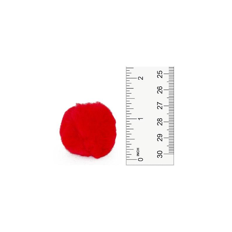 1.5 inch Red Craft Pom Poms 50 Pieces