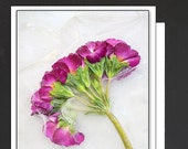 Purple Floral Ice Card \ Wherever life plants you, Bloom with grace. \ Card for a Strong Women \ A7 Cards