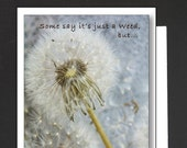 Friendship Card \ Some say it's just a weed \ Card for a girlfriend \ WHIMSICAL \ A6 Cards