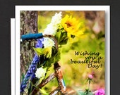 Friendship Box Cards of 8 Cards \ Wishing you a Beautiful Day! \ Box of note cards with 1 design \ A2 Cards