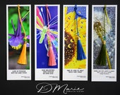 ABIGAIL'S  Bookmark Collection \ Purple Columbine Floral \ Colorful Butterfly \ Sunflower \ Dandelion \Package of 4 \ Artistic Bookmarks