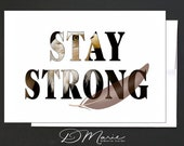 Inspirational Box of 8 Cards \ Stay Strong \ Dream Big \ Hakuna Matata \  Positive Vibes  \ Box of 8 Cards with 4 Designs \ A7 Cards