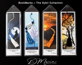 Sibyl Collection Bookmarks \ Wolf \ Tree \ Sunset \ Crow \ Package of 4 \ Unique Bookmarks
