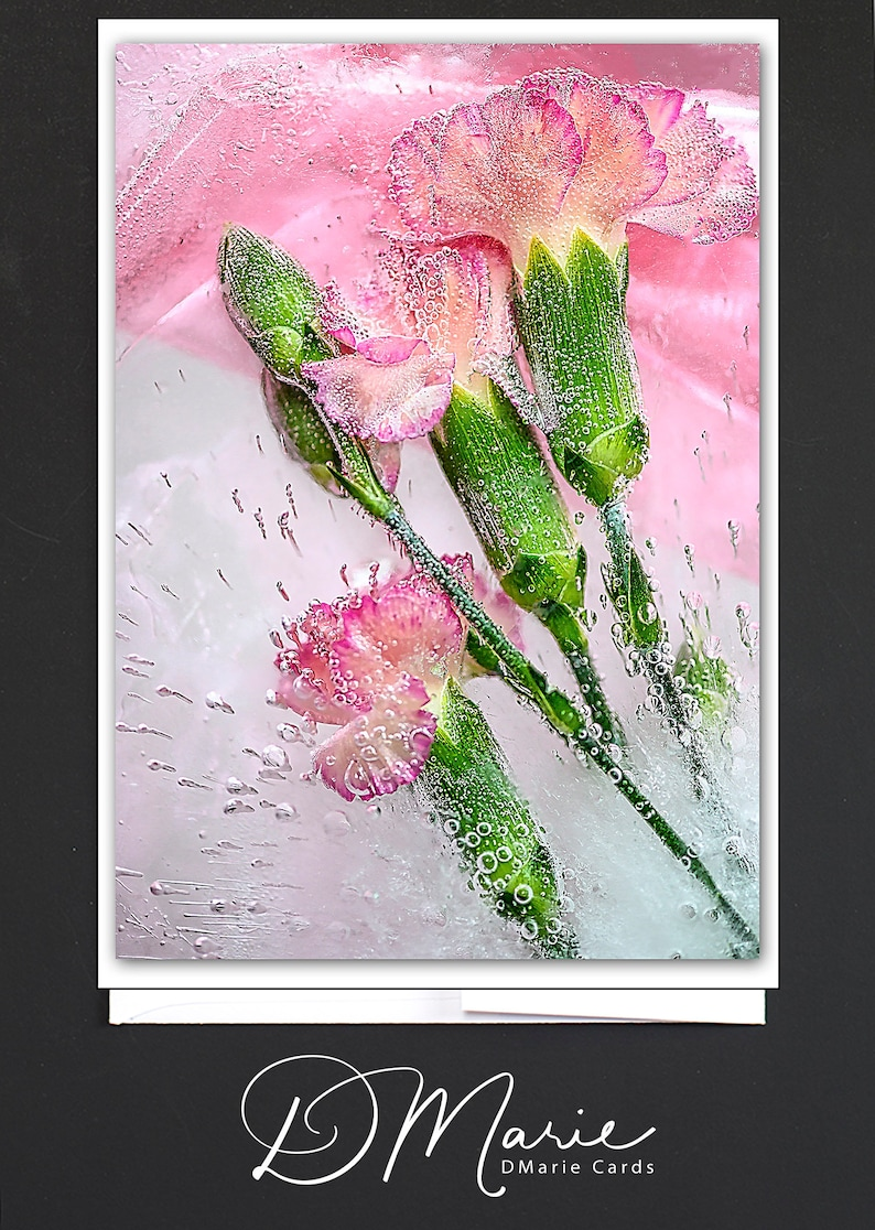 Light Pink Floral Ice Card  Live Love & Sparkle  Card for a image 0