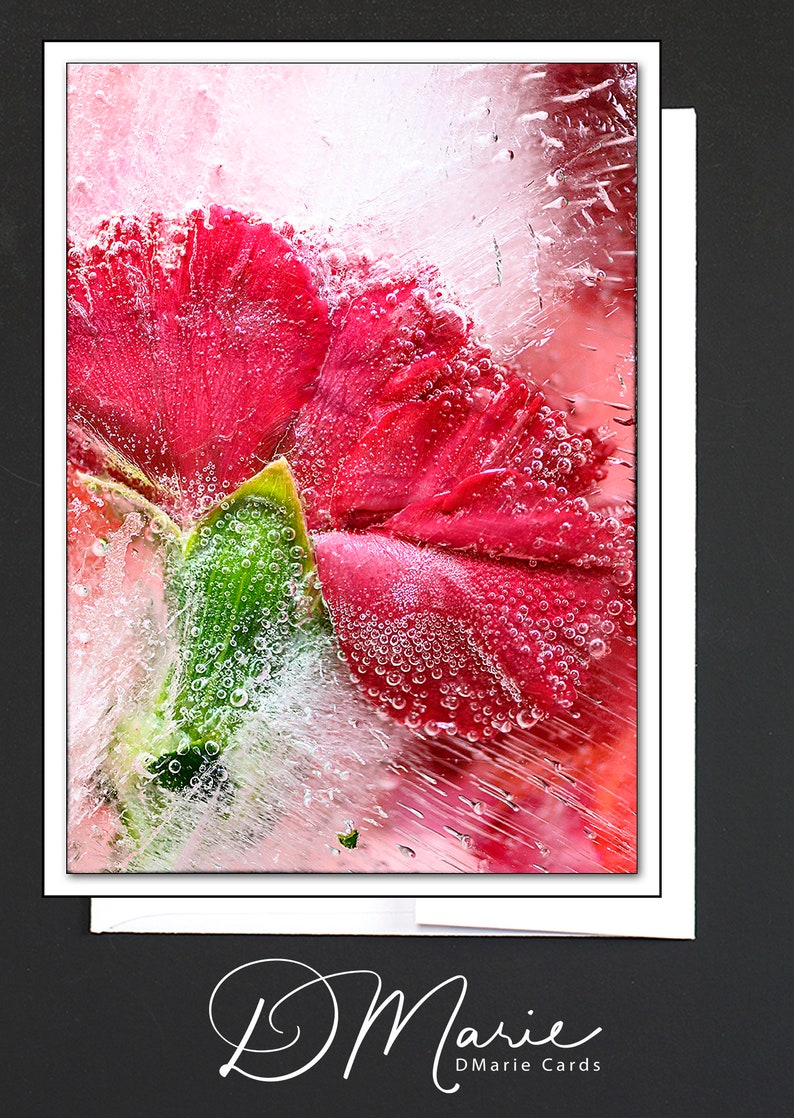 Red Floral Ice Card  She has fire in her soul and grace in image 0