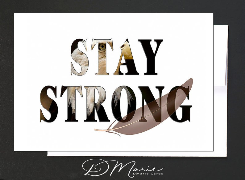 Inspirational Box of 8 Cards  Stay Strong  Dream Big  image 0