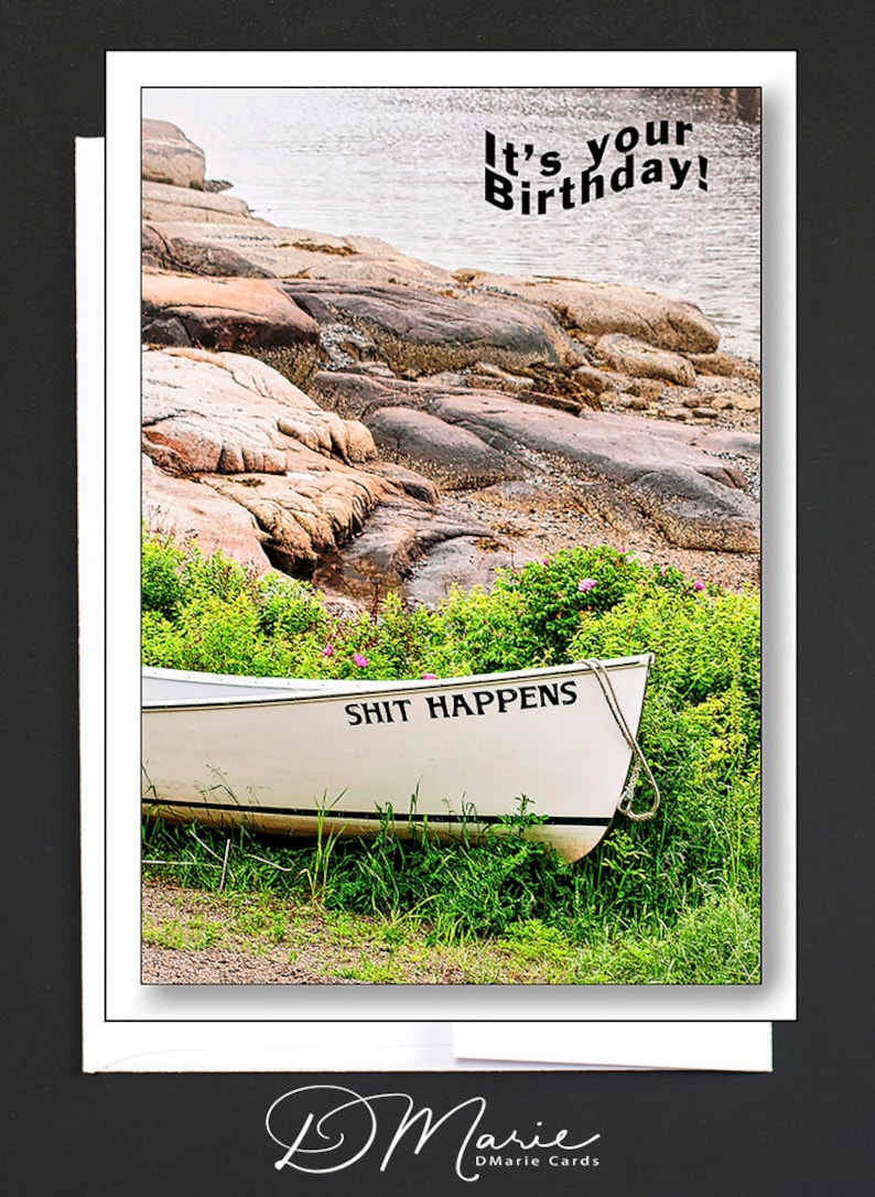 Happy Birthday Card  Shit Happens  Aint That A Wicked image 0