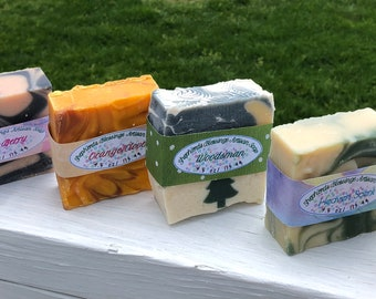 Hand Made Soap-Oatmeal Soap-Goat Milk Soap Bar-Handcrafted Soap-Homemade Soap Bar-Moisturizing Soap-Goats Milk Soap-Artisan Soap-Bar Soap
