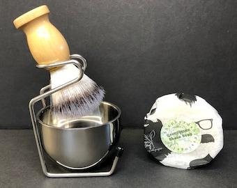 Men's Custom Shaving Kit With Artisan Soap Bar