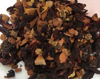 Cinnamon Plum Herbal Tea/Herbal Tea/Loose Tea Leaf/Hibiscus Flowers/Organic Herbal Tea/Organic Currants/Organic Loose Leaf/Organic Hibiscus