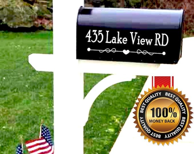 Set of 2 Custom Mailbox Decals Mailbox Numbers Vinyl Decal Stickers best seller Mailbox Address Decals Address Vinyl Decal Post Box decal