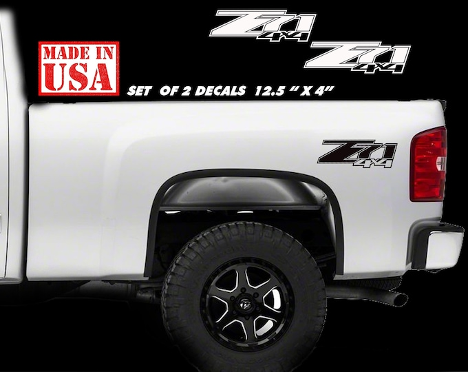 Chevy Z71 4x4 2007 - 2013 Decal Silverado GMC Sierra Truck Vinyl Sticker PAIR Logo