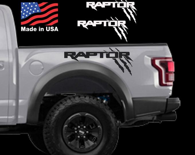 Ford F150 Truck Raptor SVT SOLID bed Side Claw Scratch graphics decal sticker Set Ford Raptor Logo