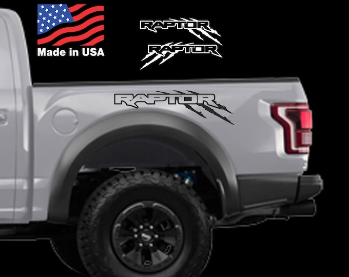 Ford F150 Raptor SVT Outline bed Side Claw Scratch graphics decal sticker Set Ford Raptor Logo