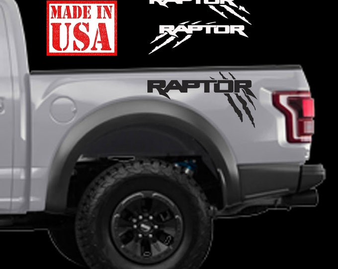 Ford F150 Raptor SVT SOLID bed Side Claw Scratch graphics decal sticker Set Ford Raptor Logo
