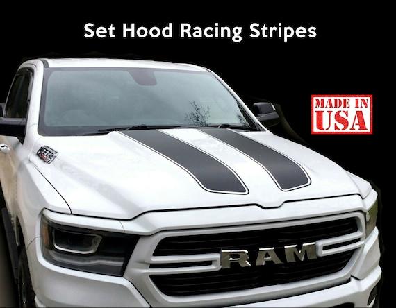 Dodge Ram Hood Fader Decal Vinyl Rally Stripes Graphics 1500 2500 3500 Rebel 5.7