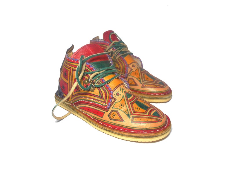 handpainted leather shoes