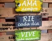 Artículos Similares A Cartel Madera Decorativo Frases