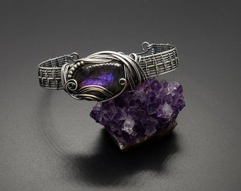 Round Purple flash Labradorite Cabochonrock and Mineralloose crystalgemstonePink Spectroliteviolet LabradoriteMadagascarReikicircle