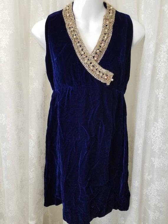 60s velvet mini dress