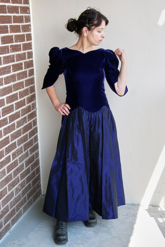 Purple 80s Prom Dress
