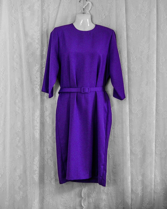 D'allaird's purple 80s day dress