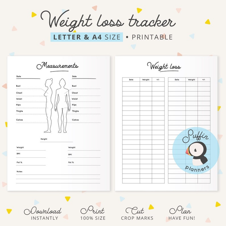 photo about Weight Tracker Printable titled Body weight reduction tracker printable, A4 Letter sizing, Pounds tracker, Health printable planner, Exercise printable, Fat printable S01