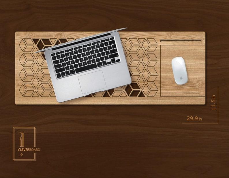 Size 11.529.9 Inch Laptop Stand Lap Tay Laptop Table Lapdesk Laptop Desk Laptop Tray Laptop Accessory Wooden Lap Desk Iphone Holder Desk