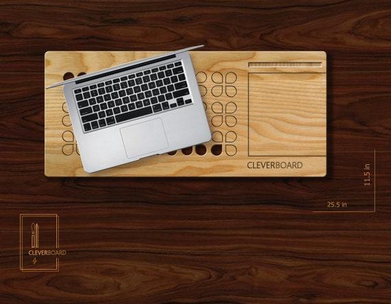 Tour de bureau bois ordinateur portable support ordinateur
