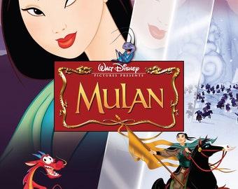 Mulan Movie Poster Etsy