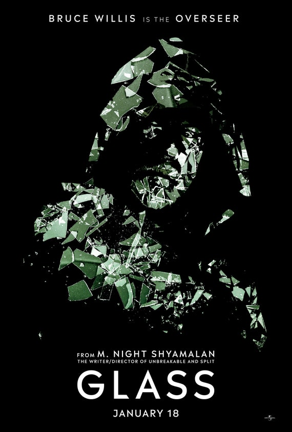 m night shyamalan movie 2019 New Gicle Art Print 2019 Movie Lobby Card Poster Glass From M Night Shyamalan