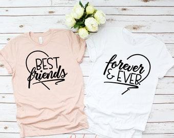 08c3c37b0 Best Friend Forever, Nice T-shirts, Best Friend Gift,Best Friends Shirts,  My Best Friend T-Shirt, Gift for Best Friend, Bestie Shirt